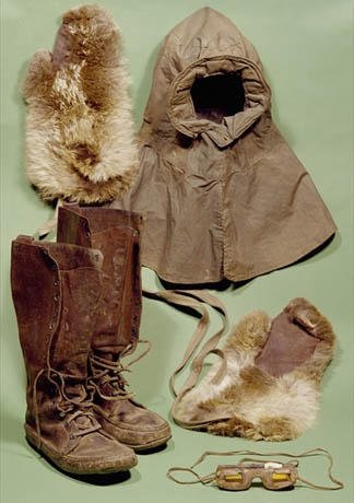 Robert Falcon Scott's clothing worn during his journey to the South Pole. He arrived just four weeks after Amundsen.