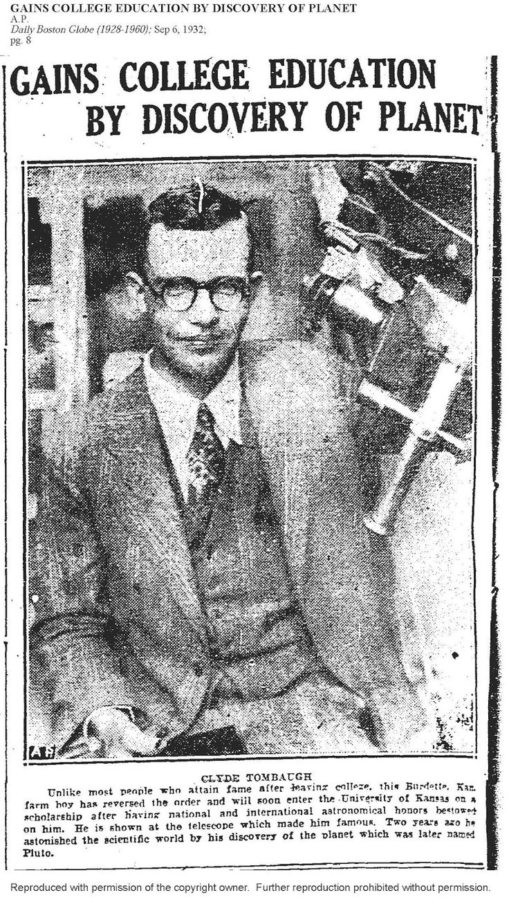 Clyde W. Tombaugh story
