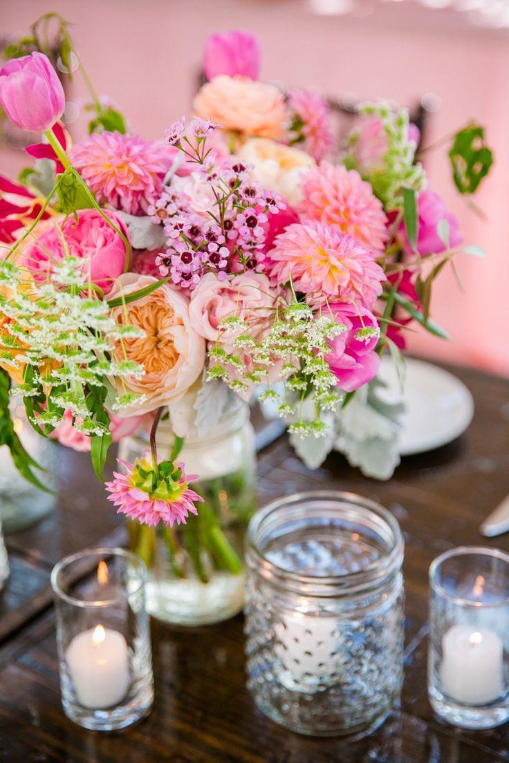 48 best colorful weddings images on pinterest colorful weddings beautiful bright pink wedding centerpiece at a charleston wedding dana cubbage junglespirit Choice Image