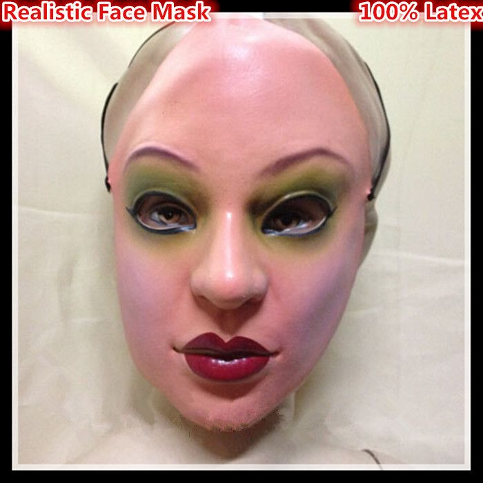 Free shipping Party Cosplay Female mask latex silicon realistic human skin masks Party dance masquerade cosplay Mask in stock