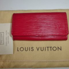 LOUIS VUITTON - RED EPI LEATHER KEY HOLDER – kitty butler