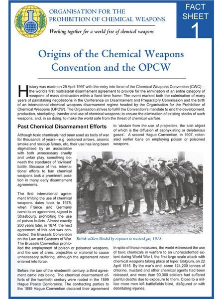 9 best OPCW Fact Sheets images on Pinterest | Chemical ...