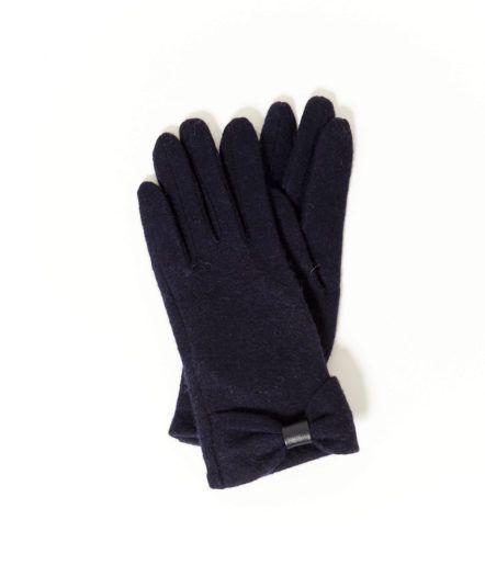 Gants en laine camaieu marines ou noirs