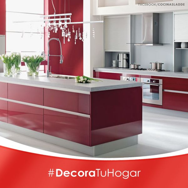 Más de 1000 ideas sobre gabinetes de cocina de color rojo en ...