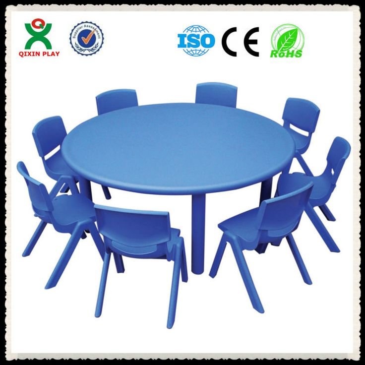 2013 charming cheap round preschool kids plastic chairs and tables/desk/kindergarten furniture QX-B7102