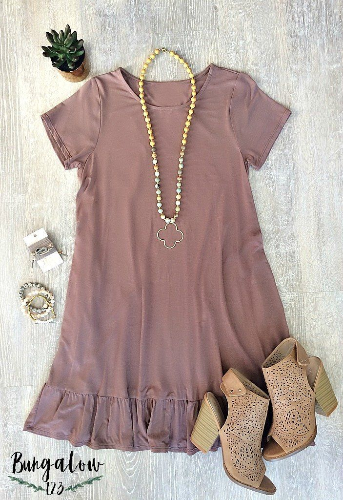 Casen Bamboo Tunic Dress - Vintage Plum