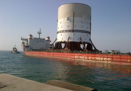 Prelude FLNG turret piece sets sail for Korea2