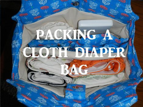 Tips for packing a cloth diaper-friendly diaper bag!  :)