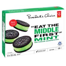 """PC """"EAT THE MIDDLE FIRST"""" Mint Ice Cream Sandwiches"""
