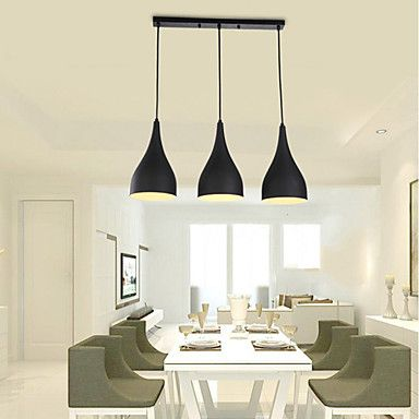 Best Selling Product 3 Lights Black Lamp Shades Latest Cheap Decor Modern  Pendant Light For Dining Room Part 37