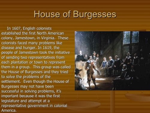 House of Burgesses symbol