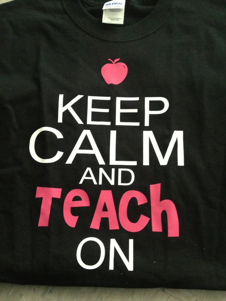 "Keep Calm Teacher shirt... the PERFECT ""I just found out I am subbing, this morning at 5:30 and now it is 7am"" kind of shirt!!!"