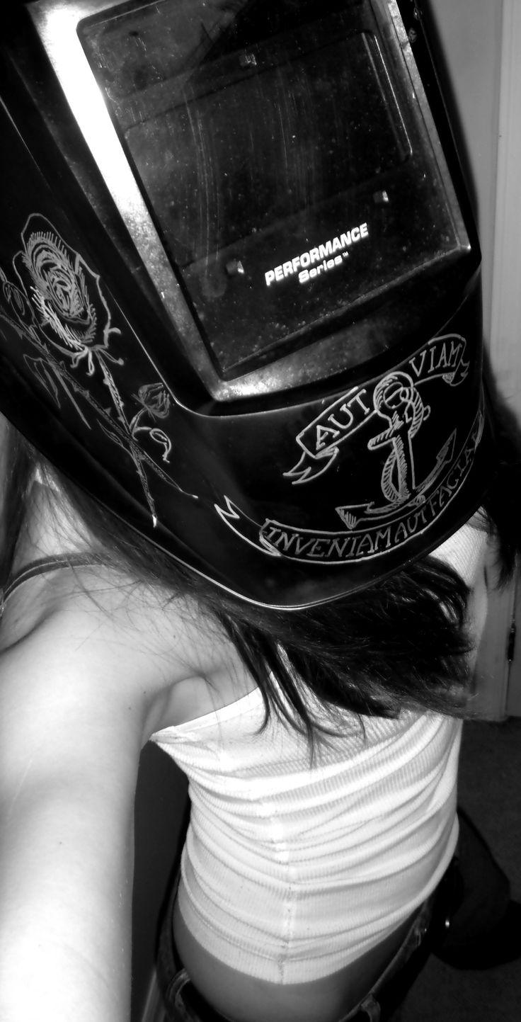 My customized welding helmet