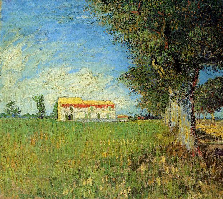 Vincent van Gogh (Dutch, 1853-1890), Farmhouse in a Wheat Field, 1888, oil on canvas.