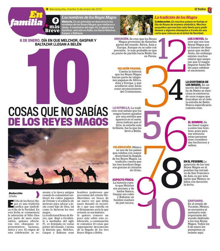 10 cosas que no sabías de los Reyes Magos Textos:Redacción Q'hubo. Empresa: Q'hubo Barranquilla.