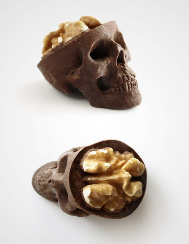 Walnuts and chocolate....not sure I'll put this in the Easter basket, tho.