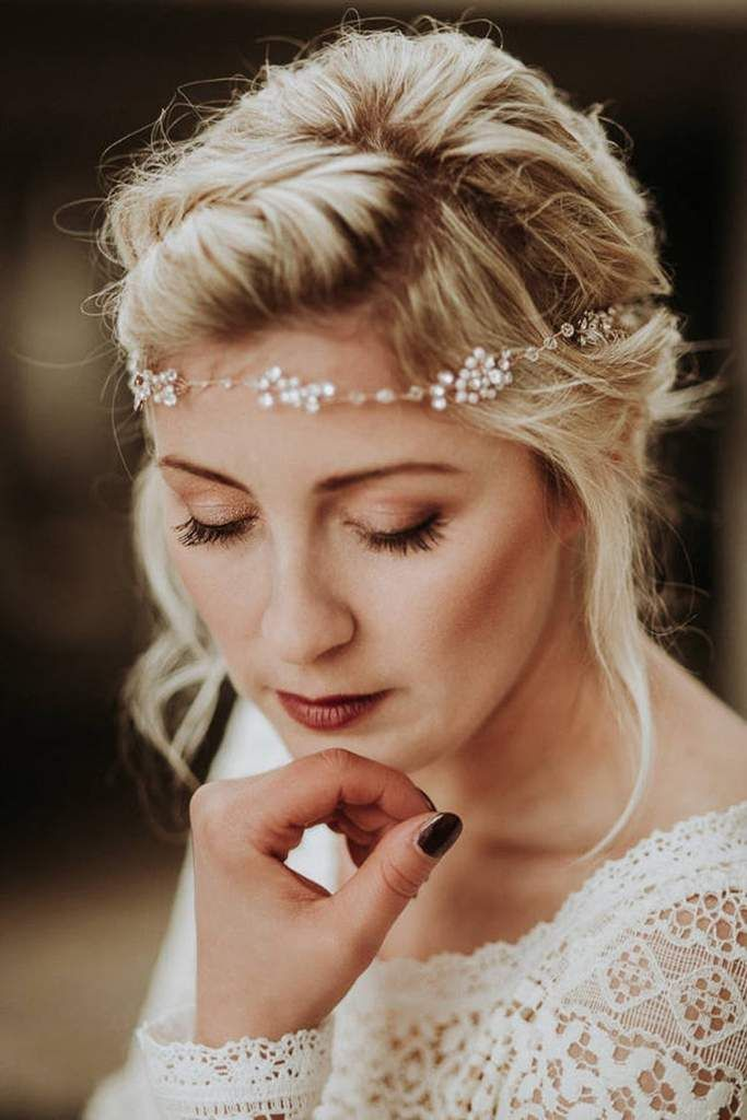 Braut Stirnband Haarband Boho Haarschmuck Zur Hochzeit Matilda Stirnband Hochzeit Haar Haarband Hochzeit Haarschmuck