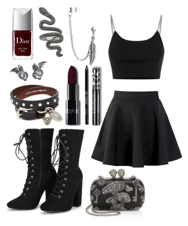 """outfit"" by kwharmony on Polyvore featuring Alexander McQueen, Alexander Wang, Bling Jewelry, Urban Decay and Christian Dior"