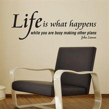 Wallstickers Life iswhat happens - NiceWall.dk