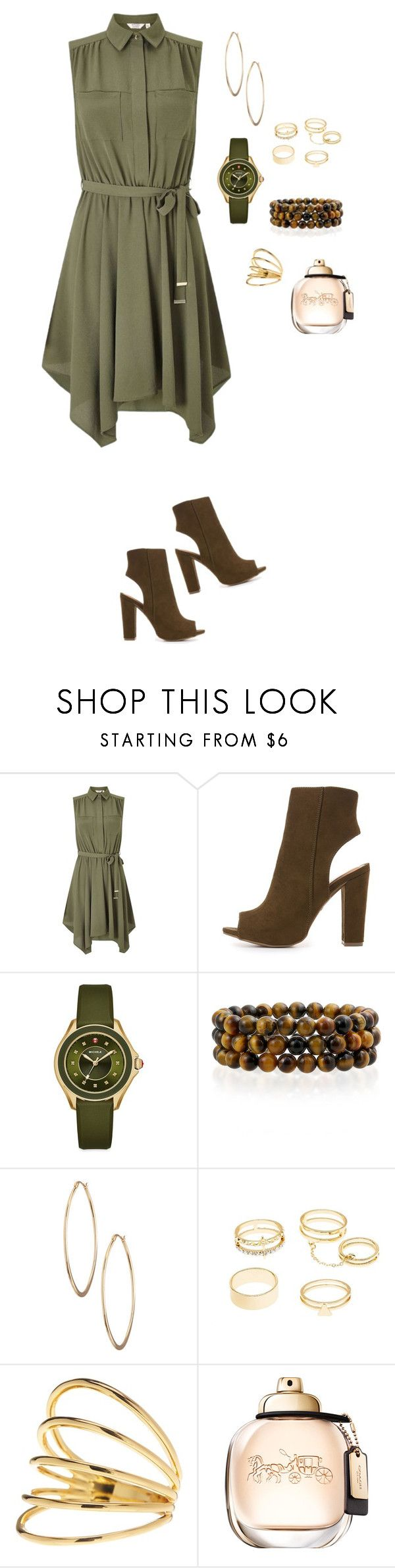 """""""Olive Tree"""" by lalalace-1 ❤ liked on Polyvore featuring Miss Selfridge, Bamboo, Michele, Bling Jewelry, Lydell NYC, Charlotte Russe and Gorjana"""