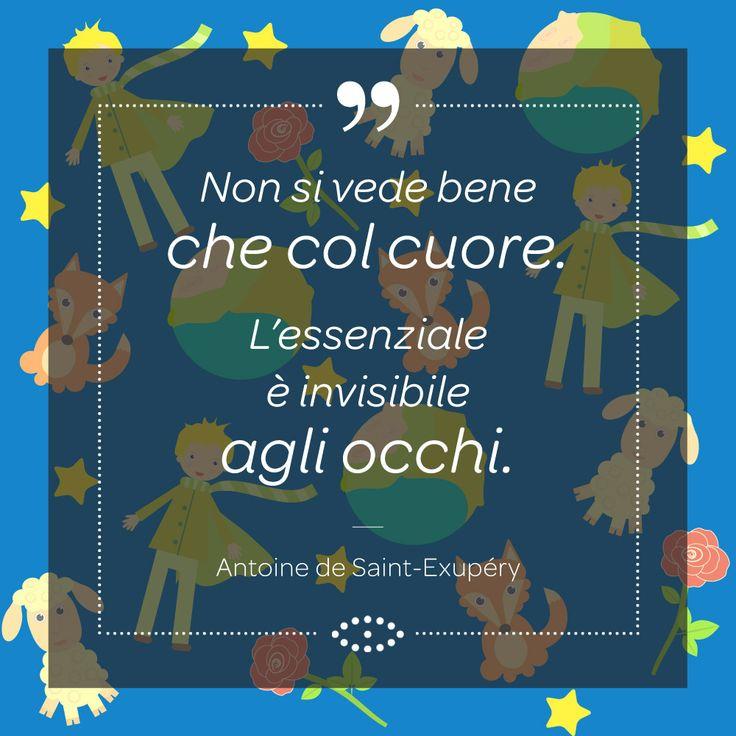 """Una delle citazioni più famose di uno dei libri più letti di sempre: """"""""Il piccolo principe"""""""", di A. De Saint Exupéry, un libro per grandi che si ricordano di essere stati bambini.  #aforismi #frasi #aforisma #salmoiraghieviganò #salmoiraghi #occhi #eyes #sguardo #occhi #eyes #ilpiccoloprincipe #LePetitPrince #thelittleprince"""