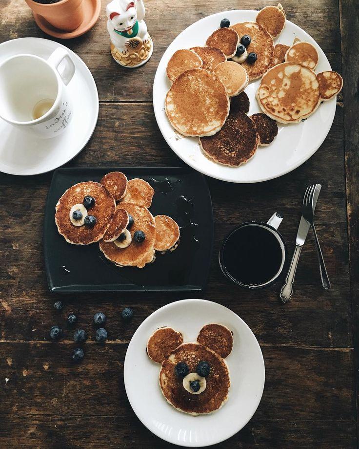 hotcakes de osito para alegrar todos los corazones 😘🐻