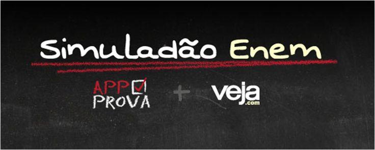 A menos de dois meses da realização do Enem 2014, VEJA.com e a start up AppProva promovem o último Simulado online gratuito para estudantes de todo o Brasil  #enem #enem2014