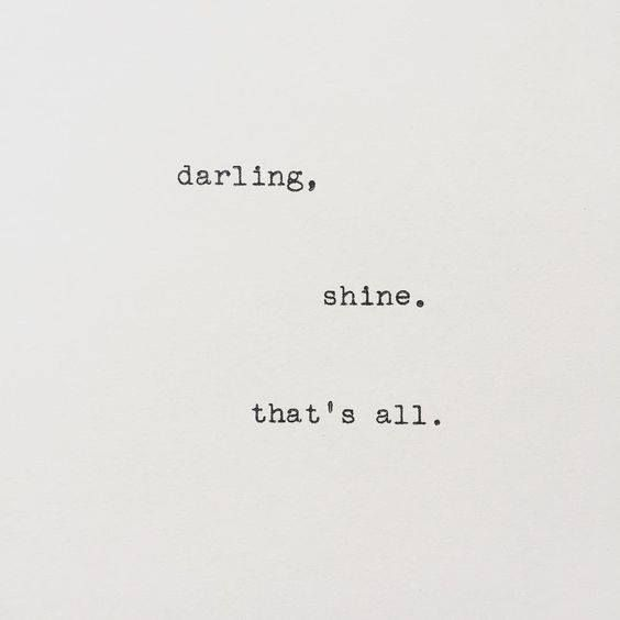 Shine. via (http://ift.tt/2rVeipc)