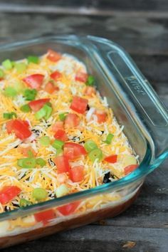 This 7 layer bean dip is easy to make and a great appetizer for parties and barbecues.