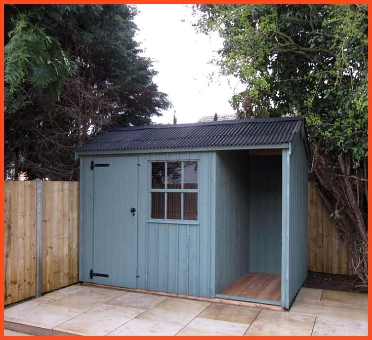 Garden Shed With Log Store Garden Log Shed Store 400 x 300