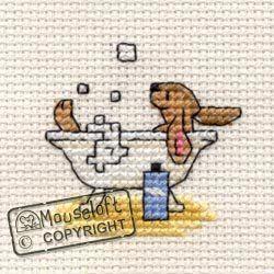 Mouseloft Mini Cross Stitch Kit - Bathing Bunny, Stitchlets Collection