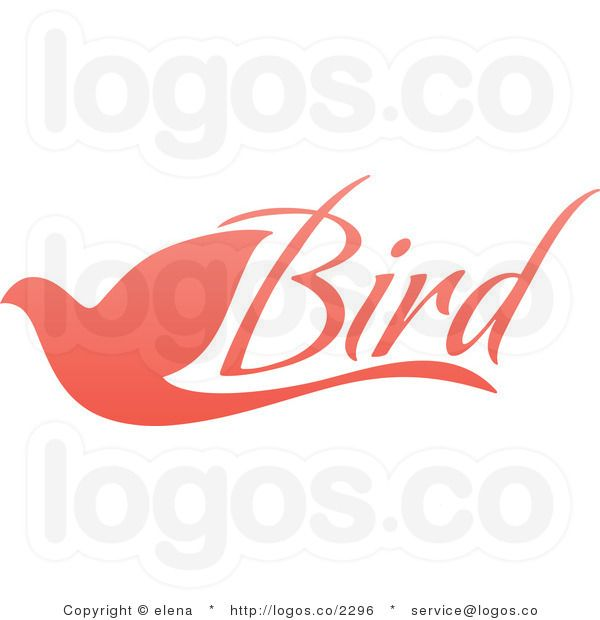 Royalty Free Pink Flying Dove with Bird Text Logo