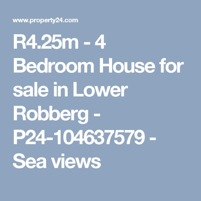R4.25m - 4 Bedroom House for sale in Lower Robberg - P24-104637579 - Sea views