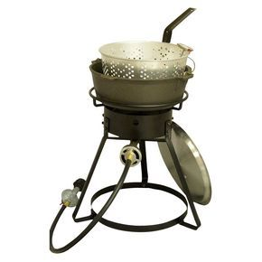 Bolt Together Outdoor Cooker with Cast Iron Pot Package - Black - King Kooker