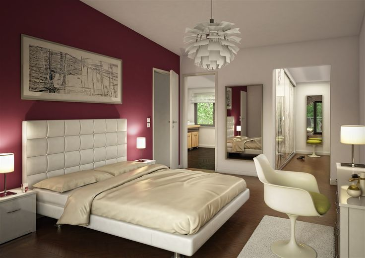 Elegant und modern.   #Schlafzimmer # Fertighaus #BienZenker #Haus