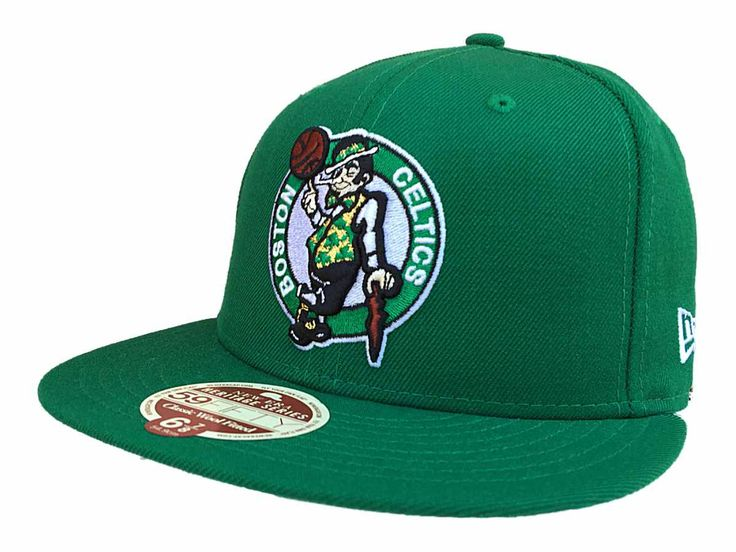 Boston Celtics New Era Heritage Green Classic Wool Fitted 59Fifty Hat