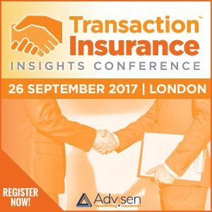 Join us on September 26, Tuesday as Advisen will host our 2017 Transaction Insurance Insights Conference at the Latham & Watkins London Office. Register today!