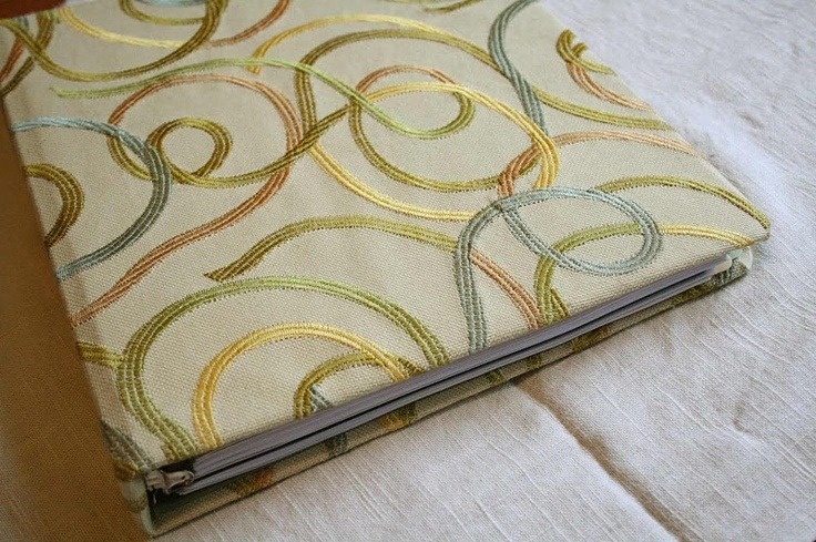 Good Simple No Sew Tutorial For Covering A Dull Binder