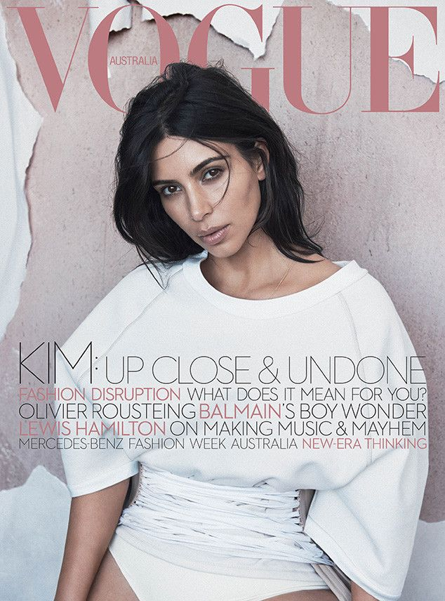 Kim Kardashian Looks Understated on Her First Magazine Cover Since Saint West's Birth | E! Online Mobile