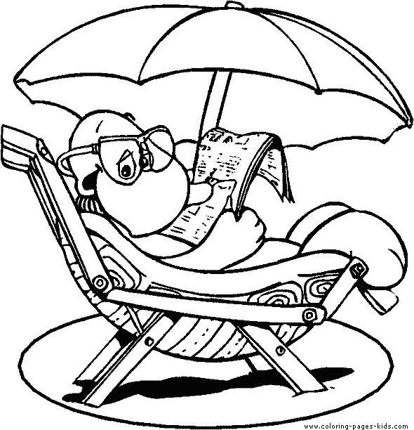 coloring page summer vacation summer vacation - Coloring Pages Summer Vacation