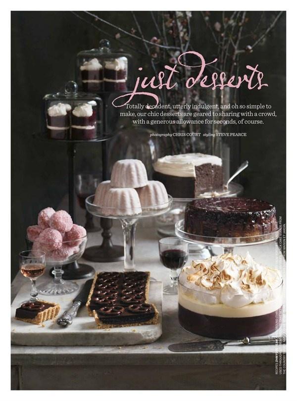 Donna Hay Magazine : just desserts, she's really something..............