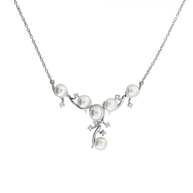 Silver & Pearl Vines Necklace