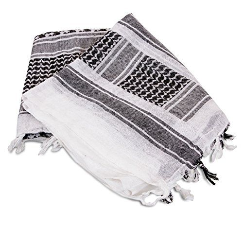 C7 Tactical Shemagh Scarf, White