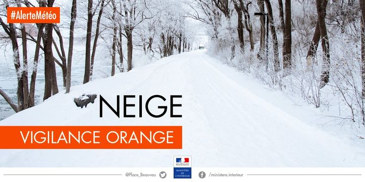 Vigilance orange neige