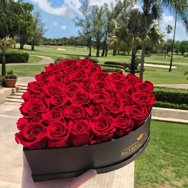 Real Long Lasting Roses Heart Shaped Box Lifetime Is Over 1 Year Flower Box Gift Red Roses Rose