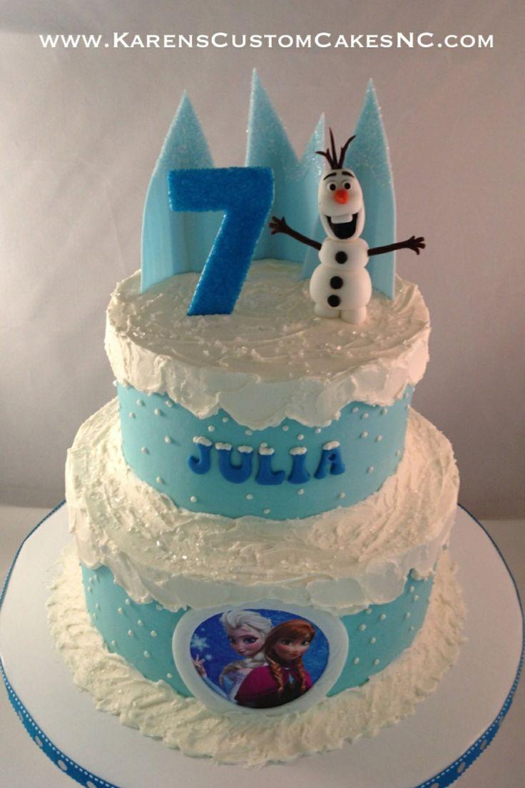 Fondant Decor On Buttercream Cake : Frozen 8+6