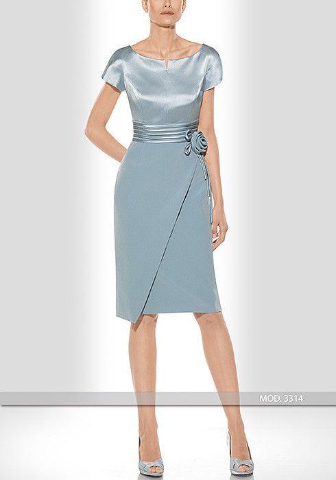 Vestido de madrina corto de Teresa Ripoll modelo 3314: