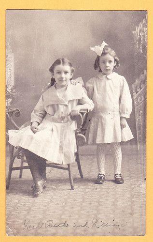 RPPC Leah Ruth Payne Lillian Mary Payne Two Cute Girls Photo | eBay