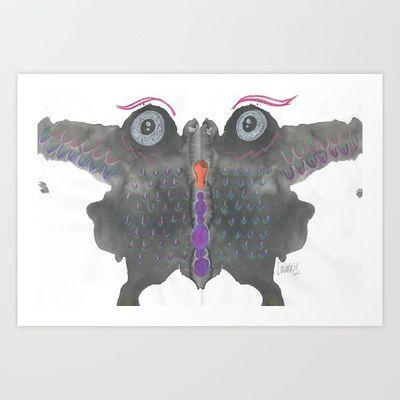 InkBlot Monster 1 Art Print by Laura Alvarez - $16.00