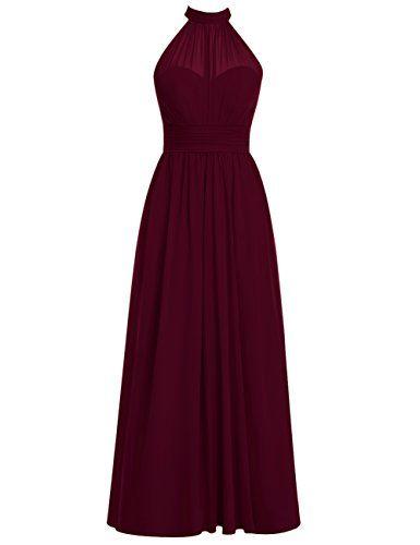 Dresstells® Long Bridesmaid Dress High Neck Chiffon Prom Dress Side Split Burgundy Size 6 Dresstells http://www.amazon.com/dp/B0198B8FIU/ref=cm_sw_r_pi_dp_MKh.wb148V3P5